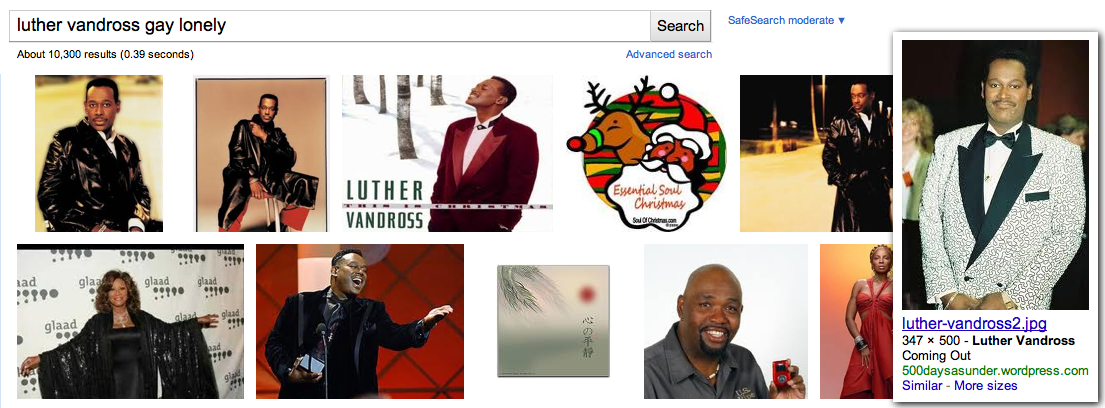 "Search Engine Term: ""Luther Vandross Gay Lonely"" - 6th Image"